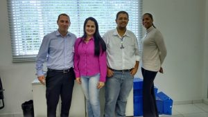 (esq. p/ dir.) Darlan, Daianny, Carlos e Meire